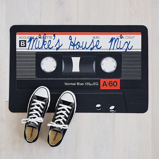 Customizable Mixtape Doormat