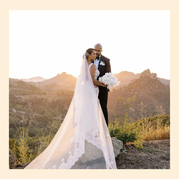 Gloria Govan and Derek Fisher wedding