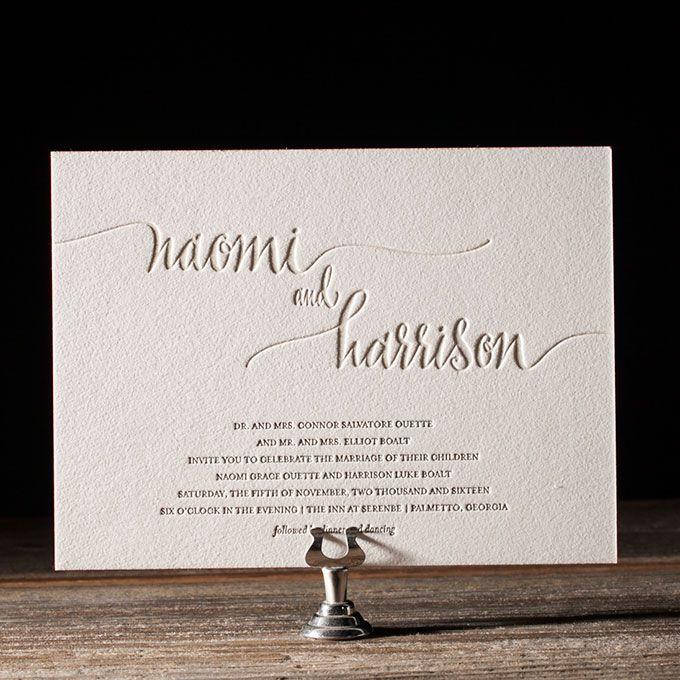 Destination Wedding Gift Etiquette: 25 Typography Wedding Invitations We Love