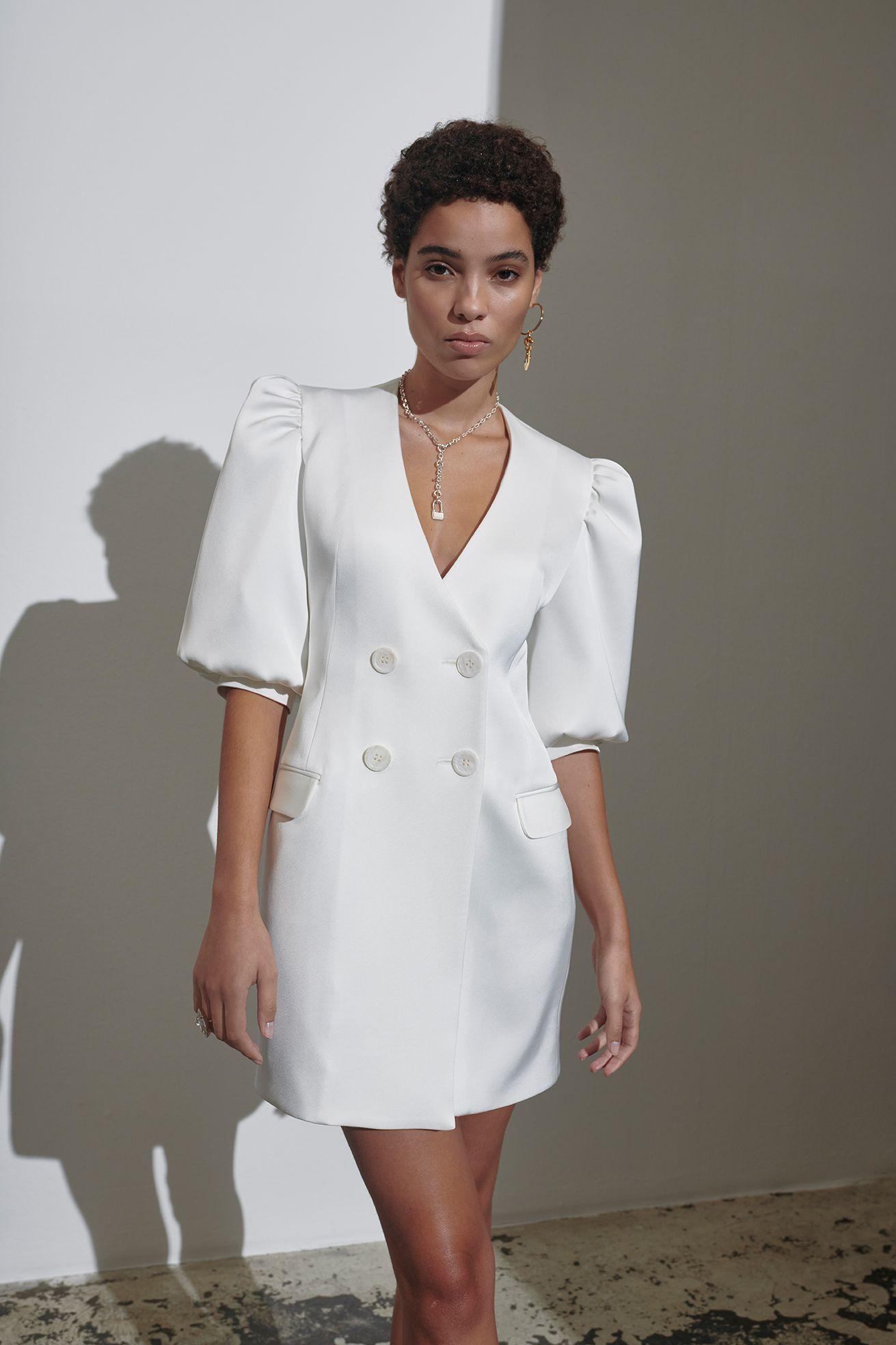 puffy blazer dress