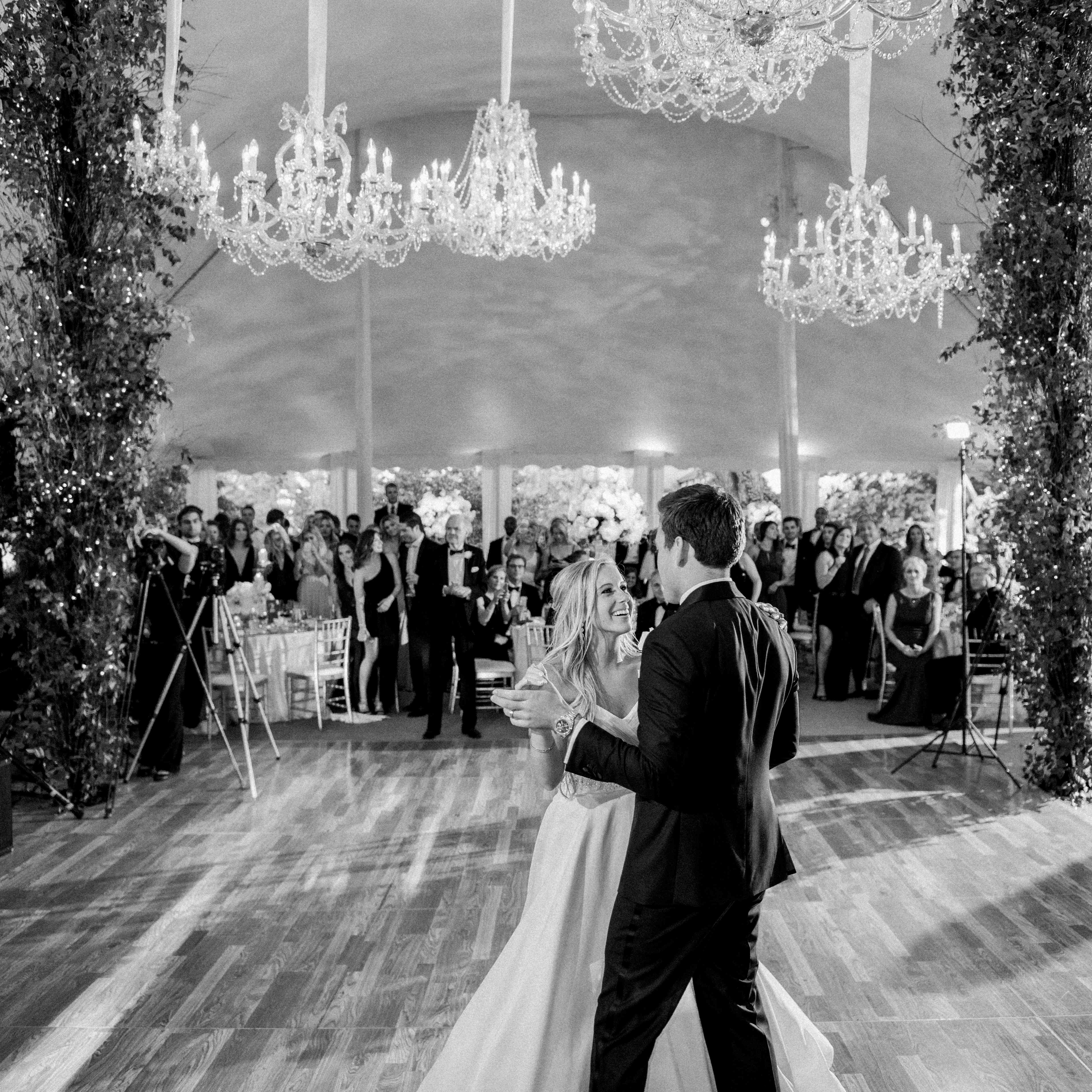 Couple during first dance