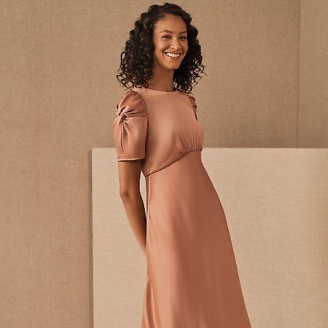 Leyden Satin Midi Dress