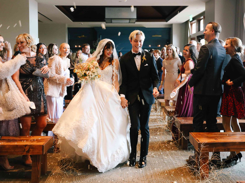 savannah and riker wedding, ceremony exit