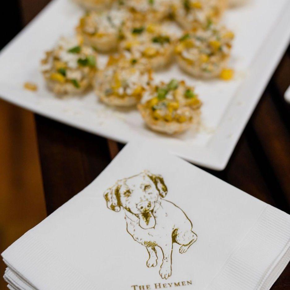 dog cocktail napkin