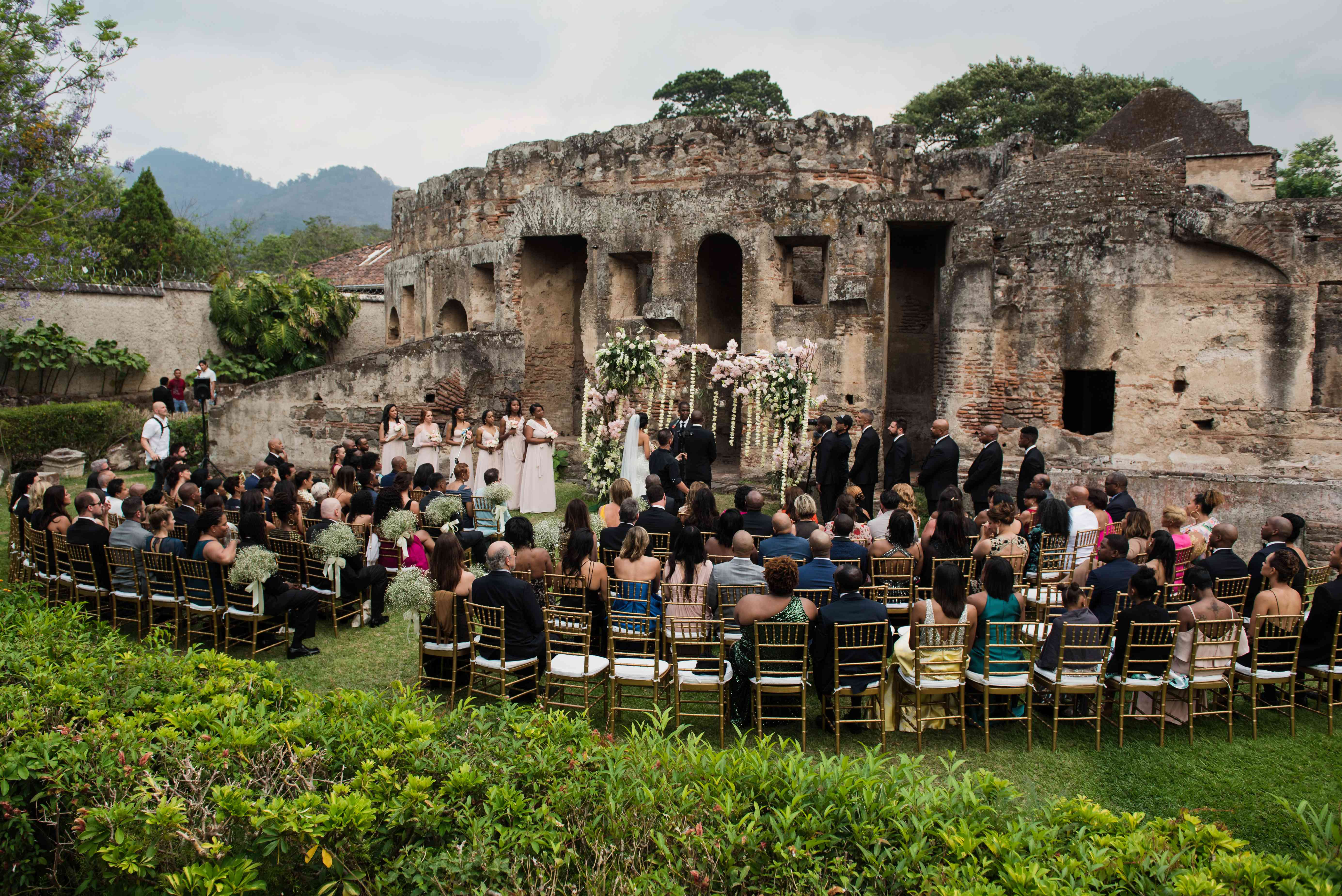 semi-circle ceremony seating
