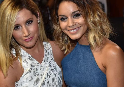 Actress Ashley Tisdale and honoree Vanessa Hudgens in Los Angeles.