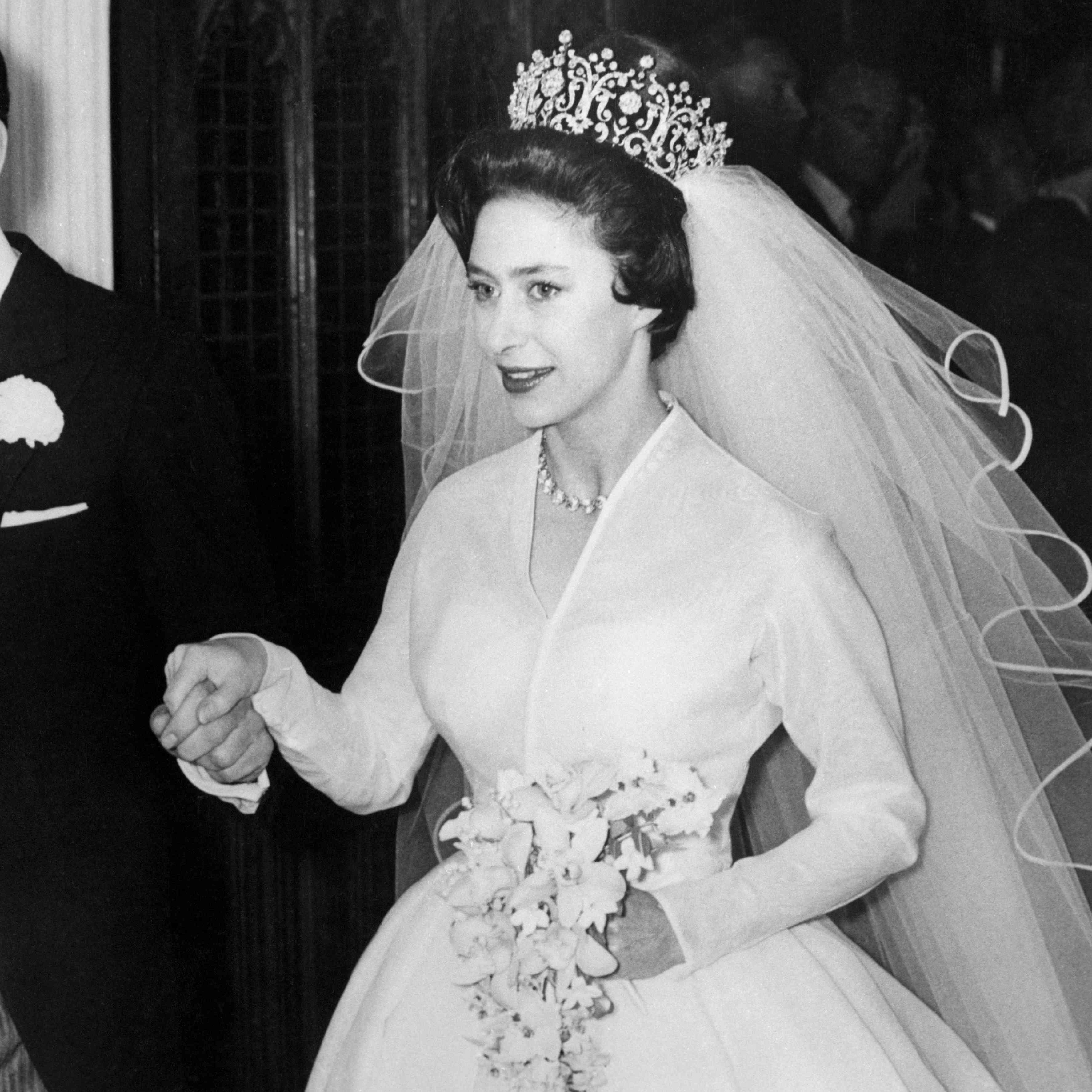 Princess Margaret on wedding day