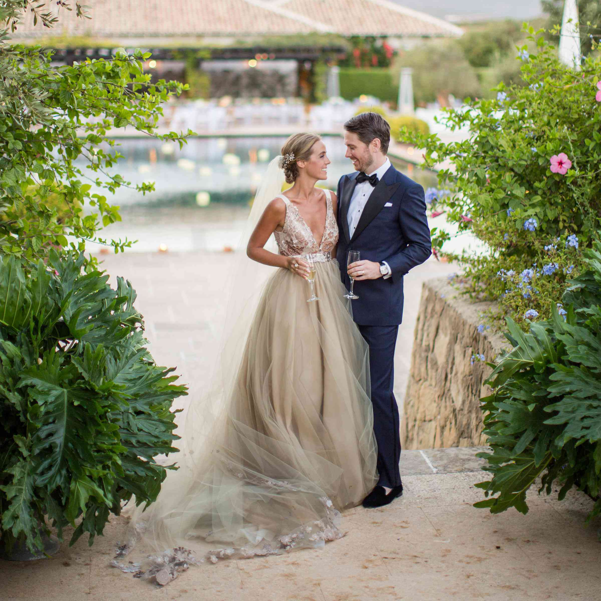 A Stunning Spanish Garden Wedding And Pool Party