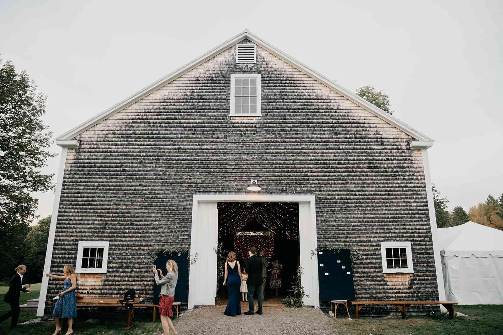 Outside of barn