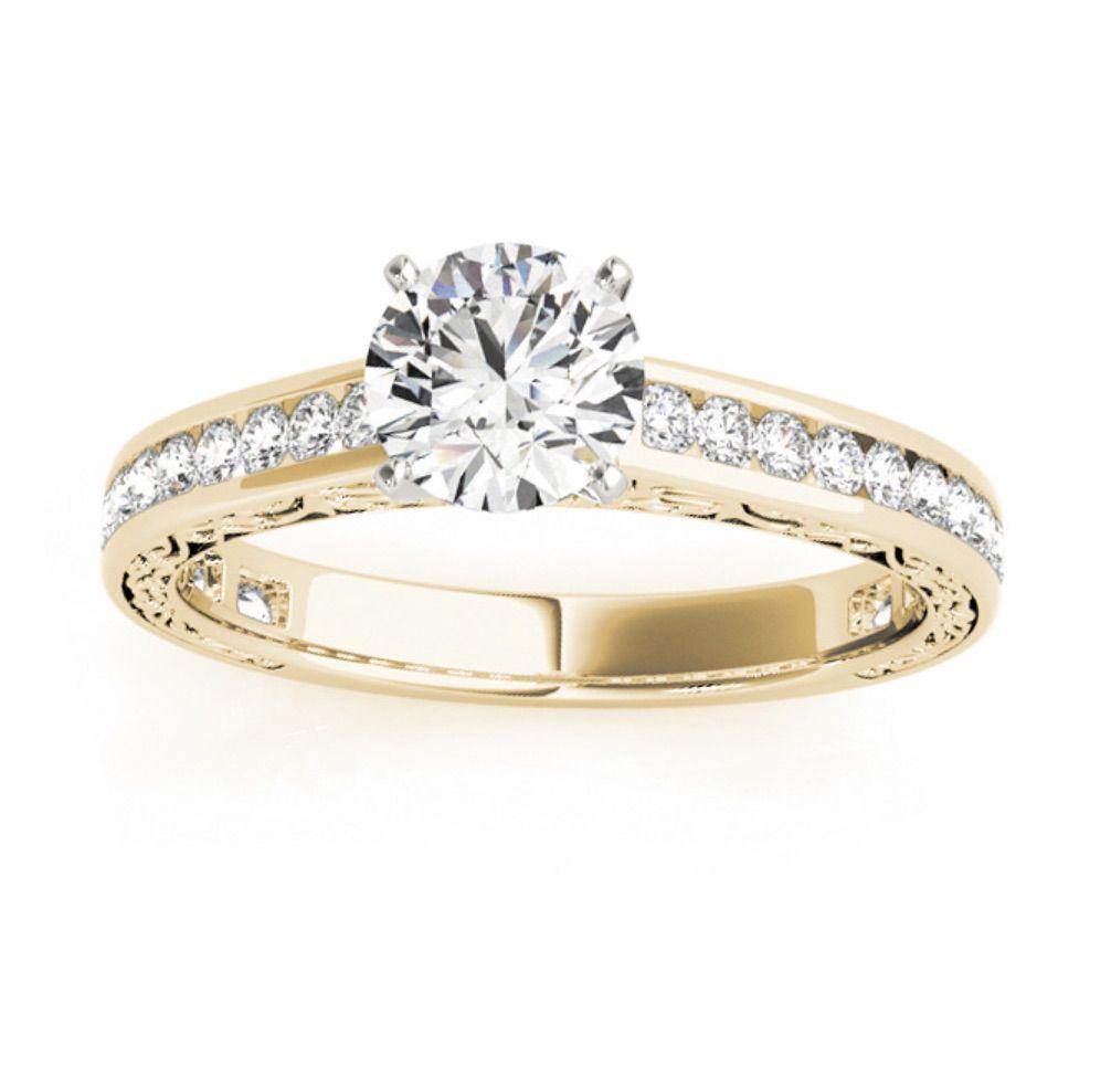 Allurez Diamond Channel Set Engagement Ring