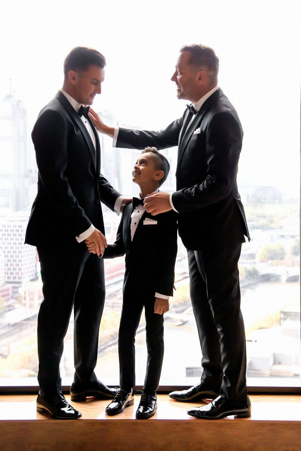 two fathers and son
