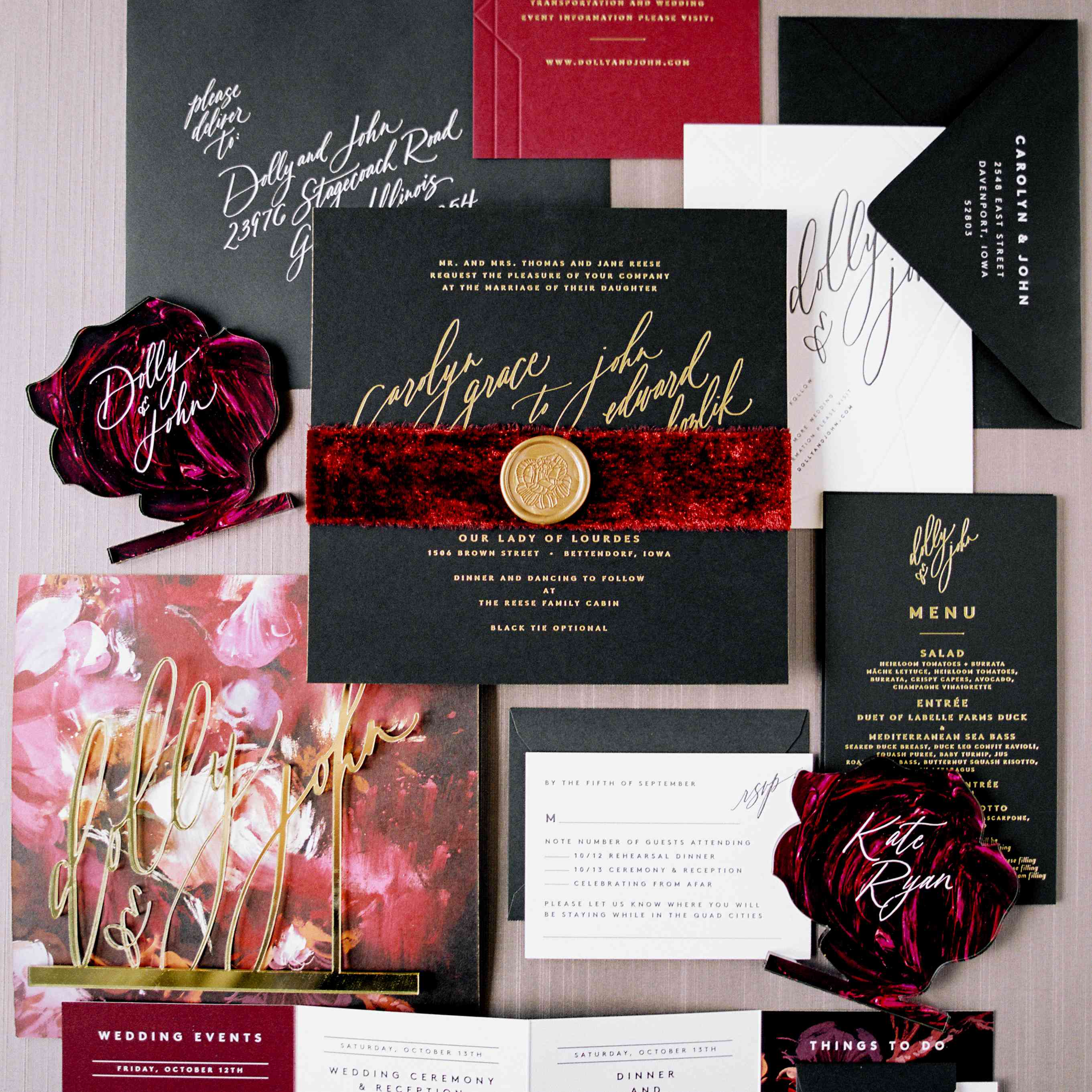 Wedding paper suite detail