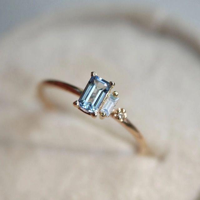 Emily Warden Designs Aquamarine Collage Ring