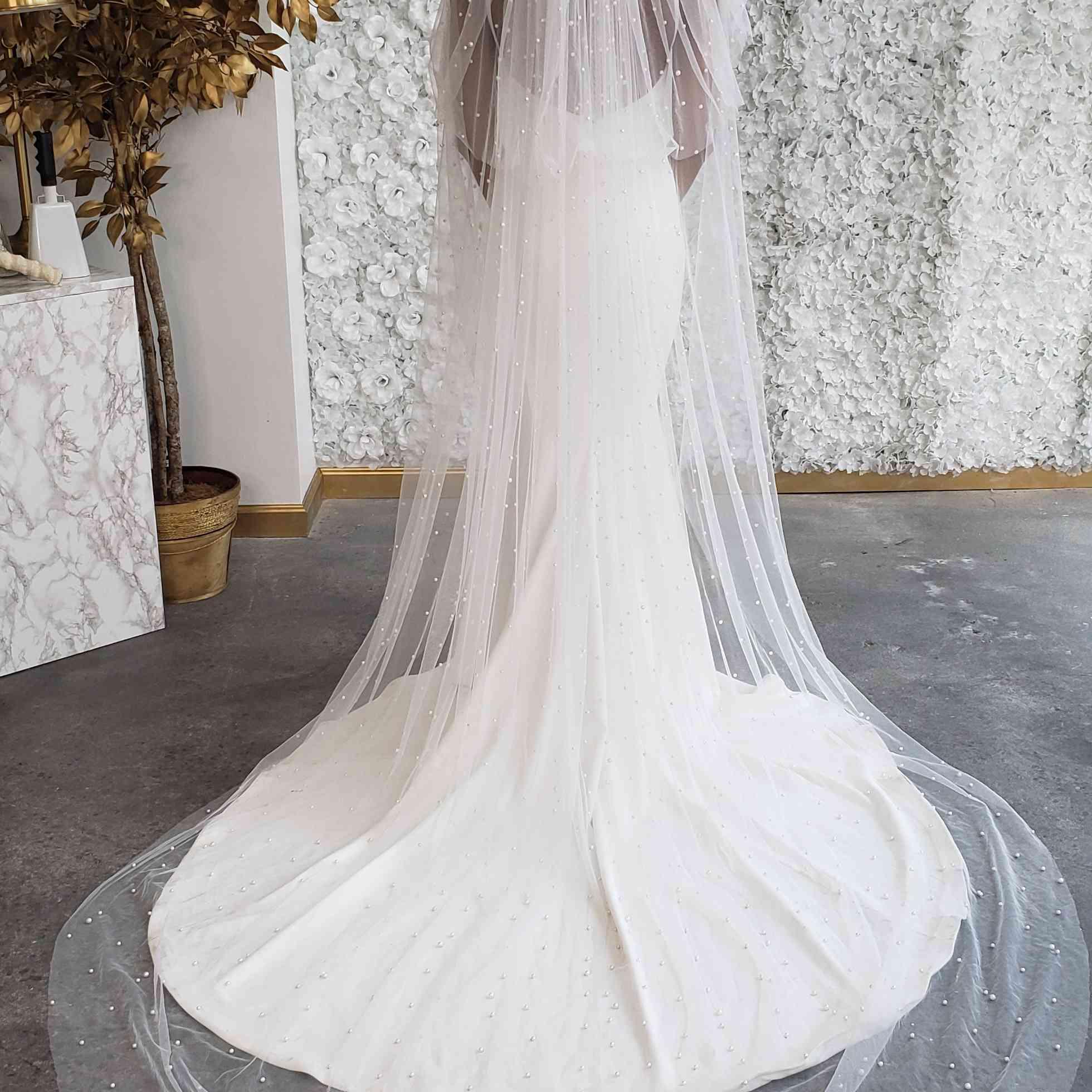Pantora Bridal Pearl Veil