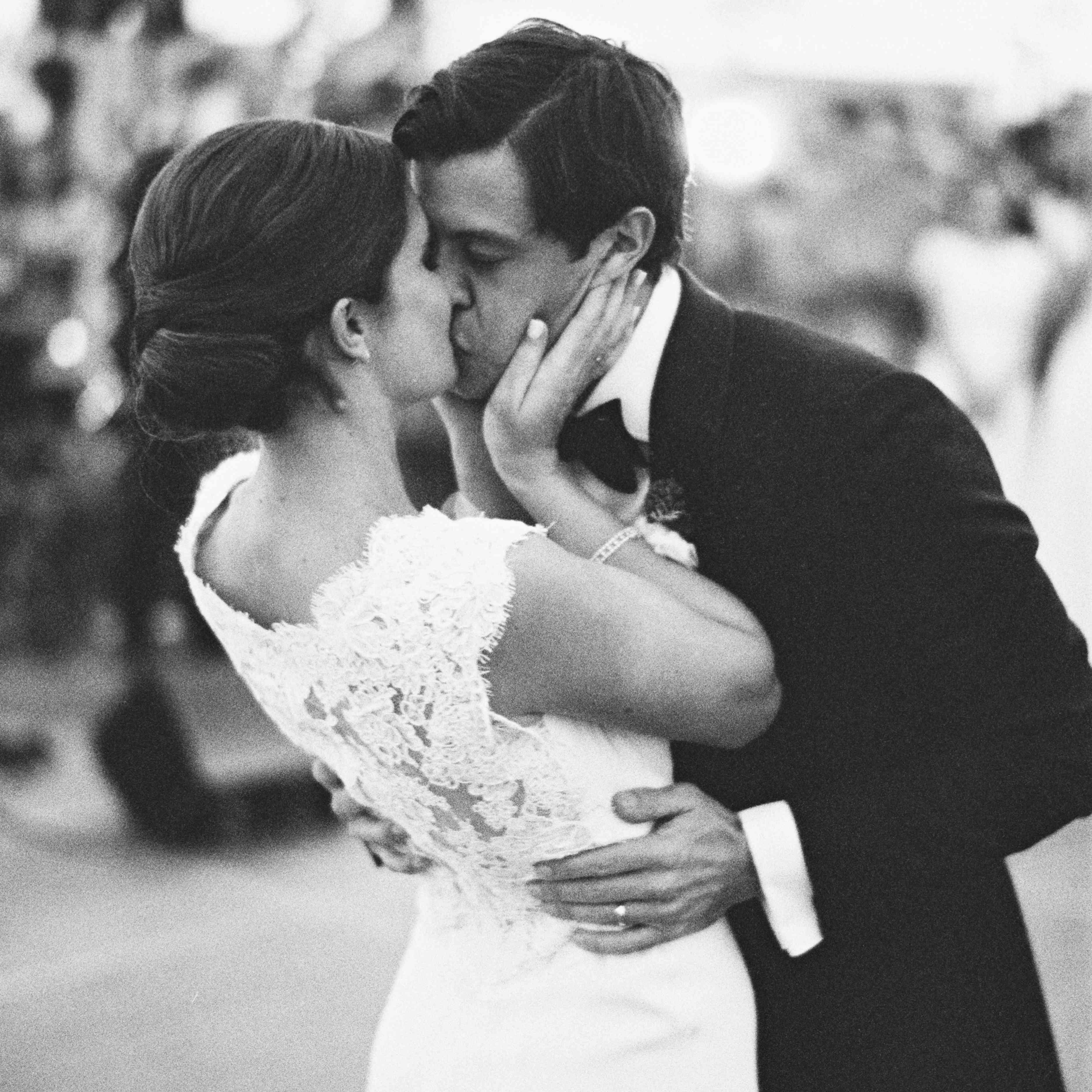 kiss on dance floor