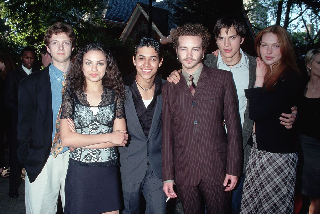 The teenage cast of That 70's show at the unveiling of the Fox Broadcasting Company's 1998-1999 prime time program schedule at Tavern on the Green.