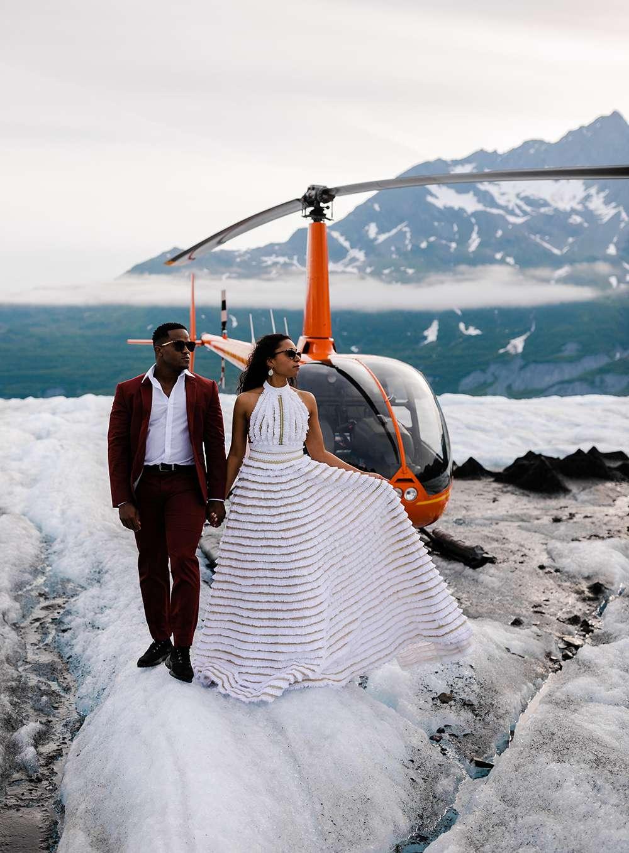 alaska elopement on a glacier