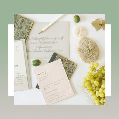 elegant wedding invitiation