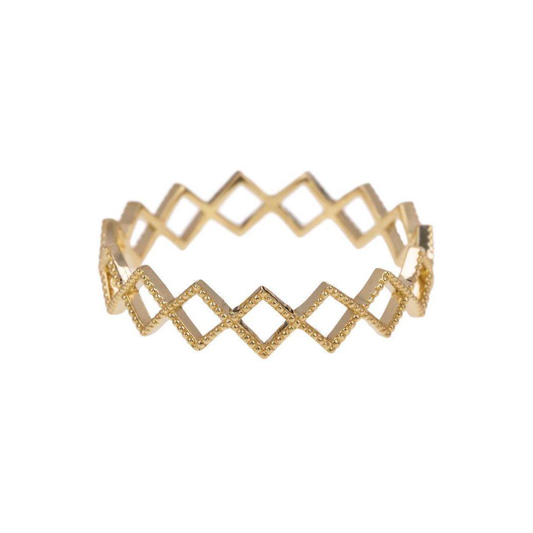 Grace Lee Yellow Gold Beaded Diamond Eternity Ring