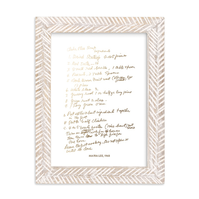 Your Recipe as Foil Print