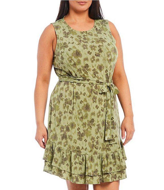 MICHAEL Michael Kors Plus Size Mega Poppy Ikat Print Dress, $110, on sale $28.87