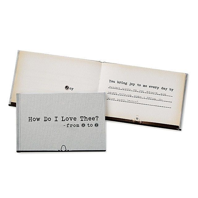 Uncommon Goods How Do I Love Thee From A to Z