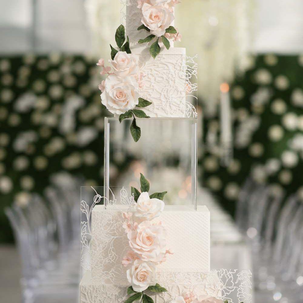 Acrylic Wedding Cake