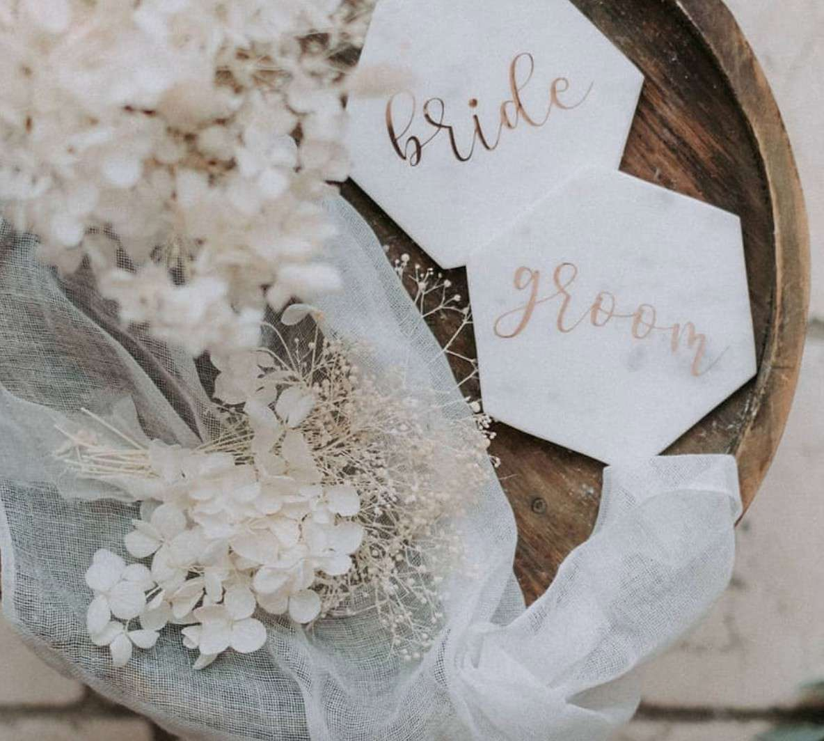 bride and groom coasters