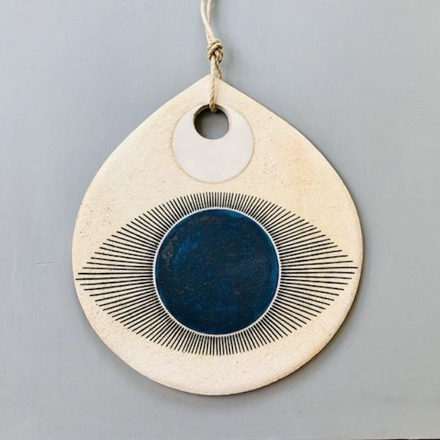 Dina Varano Indigo Protective Eye Wall Hanging