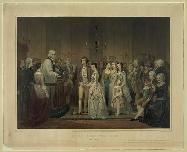 Martha and George Washington Wedding