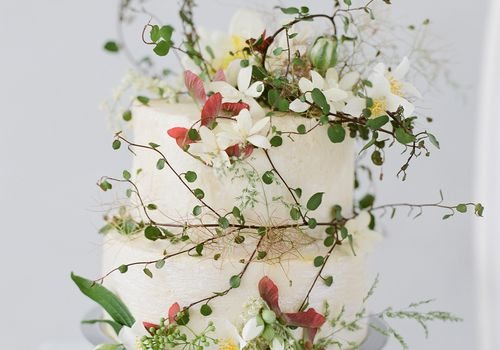 natural themed cake