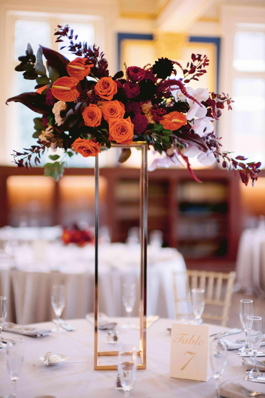 tall floral wedding centerpieces