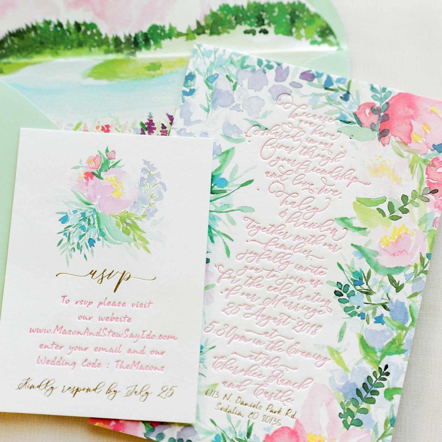 water color bridal suite