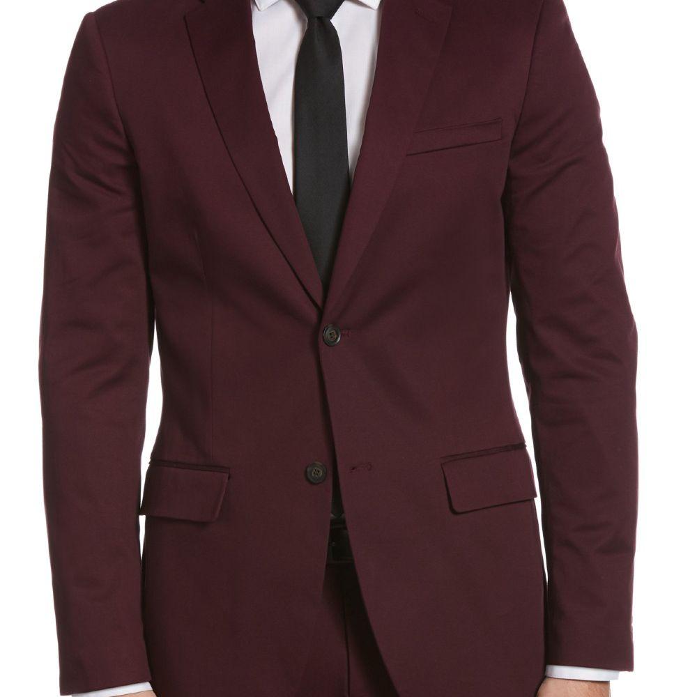 burgundy suit jacket