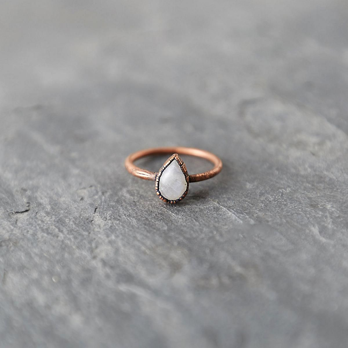 33 Moonstone Engagement Rings You're Going to Want Right Now
