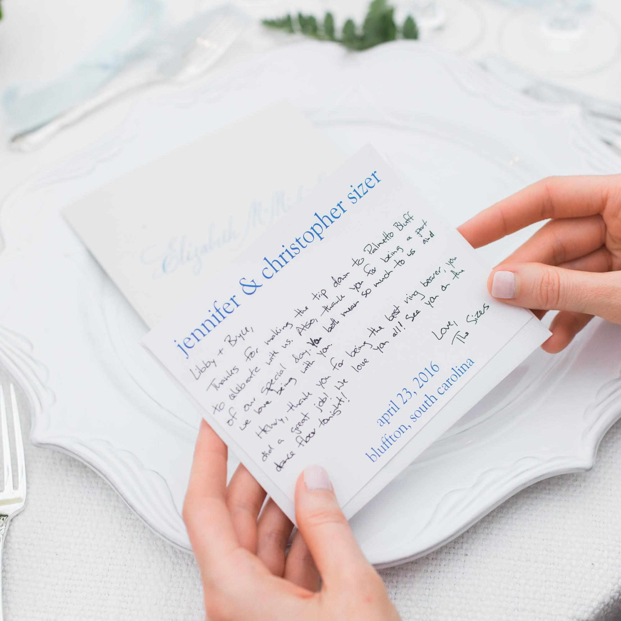 Wedding Thank You Card Wording: How To Write A Thank You Note