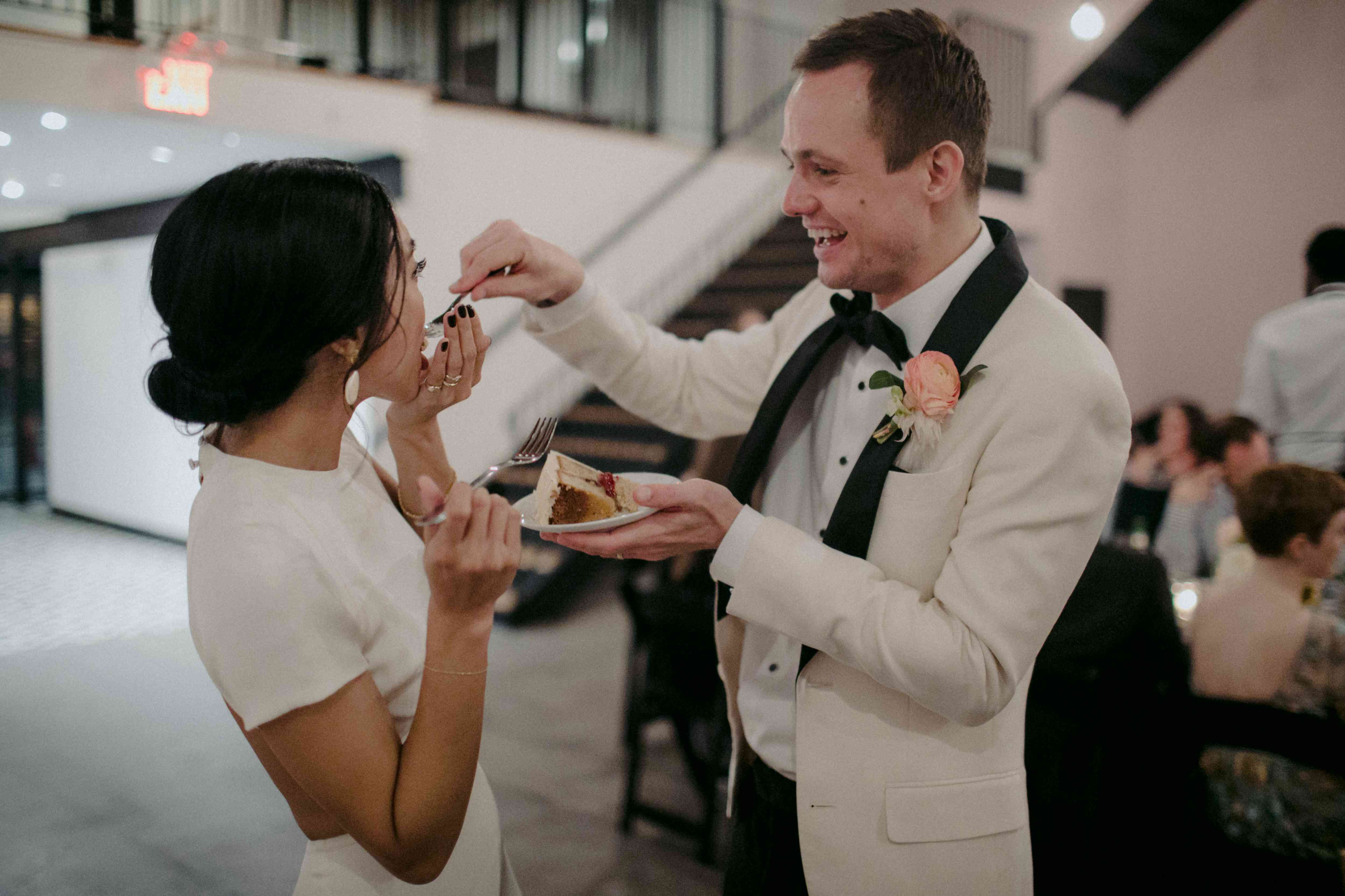 <p>eating cake</p><br><br>