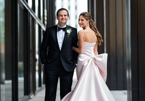Richelle McCoy and John Tiedmann Jr. marry at Chicago's Revel Motor Row.