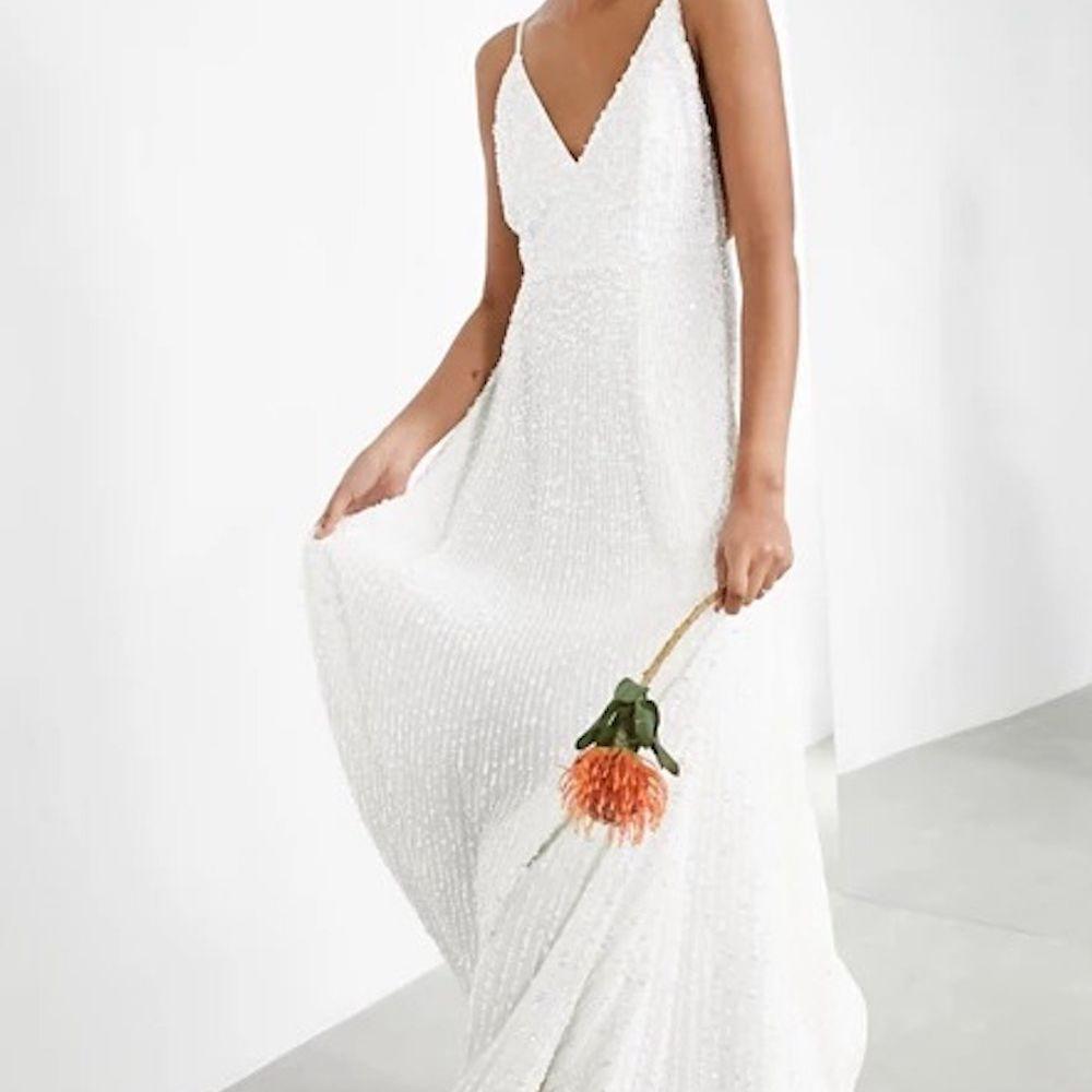 ASOS EDITION Sequin Cami Wedding Dress