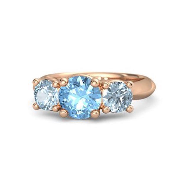 Gemvara Round Blue Topaz Ring