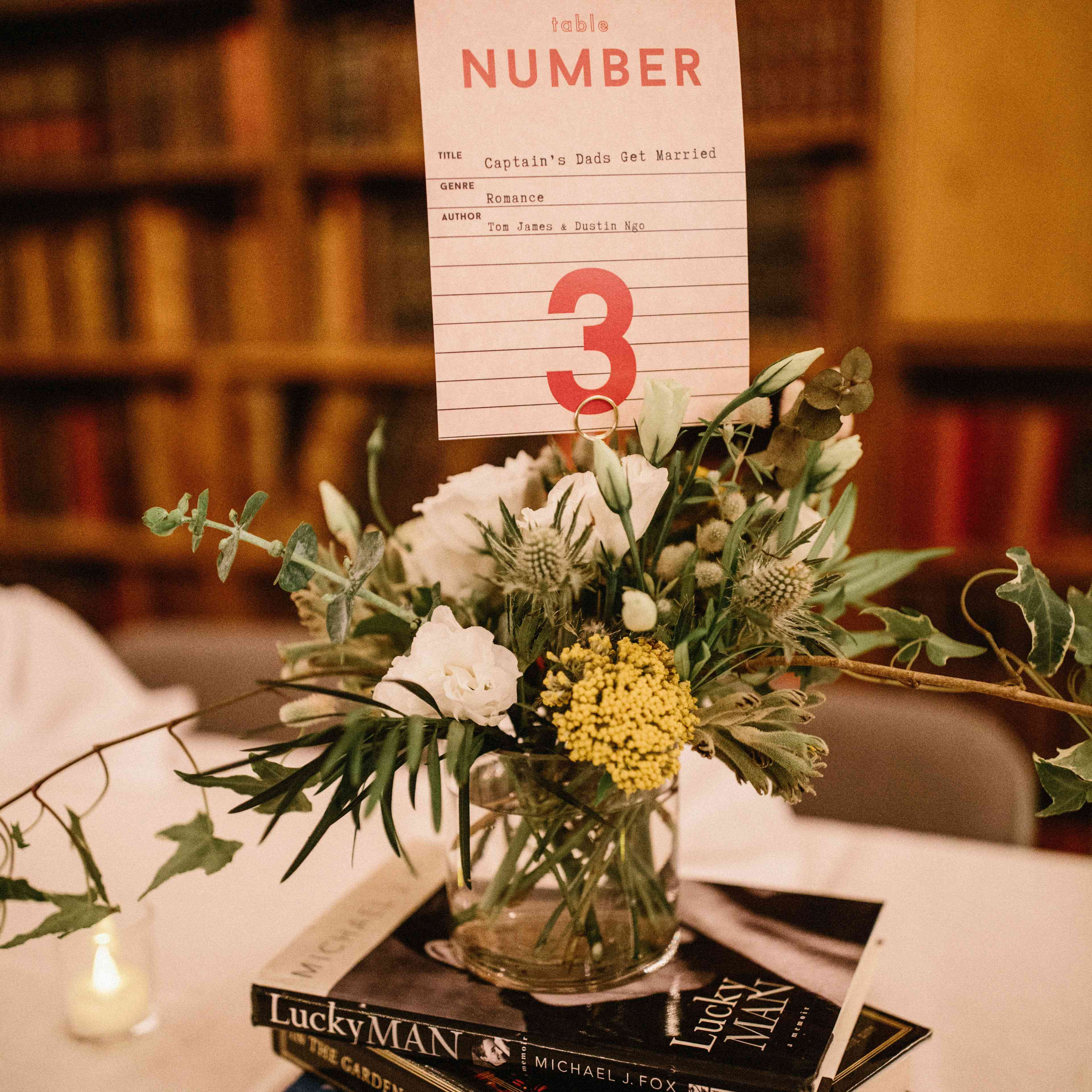 Book table number