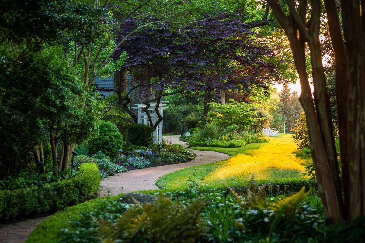 Fearrington Village garden in spring