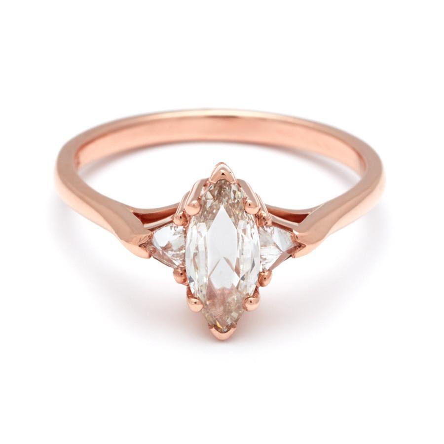 Rose gold pink diamond engagement ring