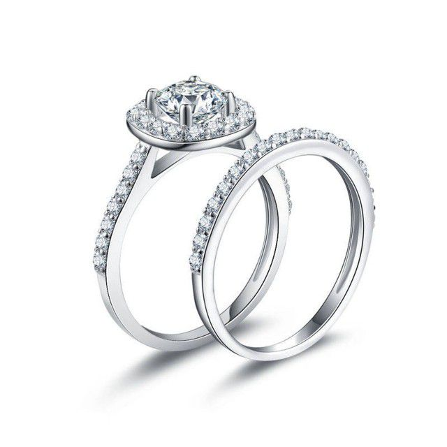 sparkly ring set