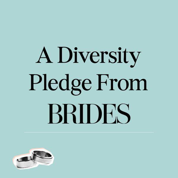 A diversity pledge from brides