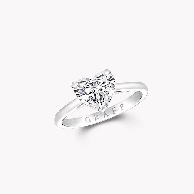 Graff Paragon Heart Shape Diamond Engagement Ring