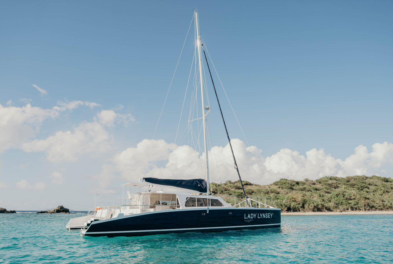 Luxury sailing catamaran Lady Lynsey II in St. Thomas