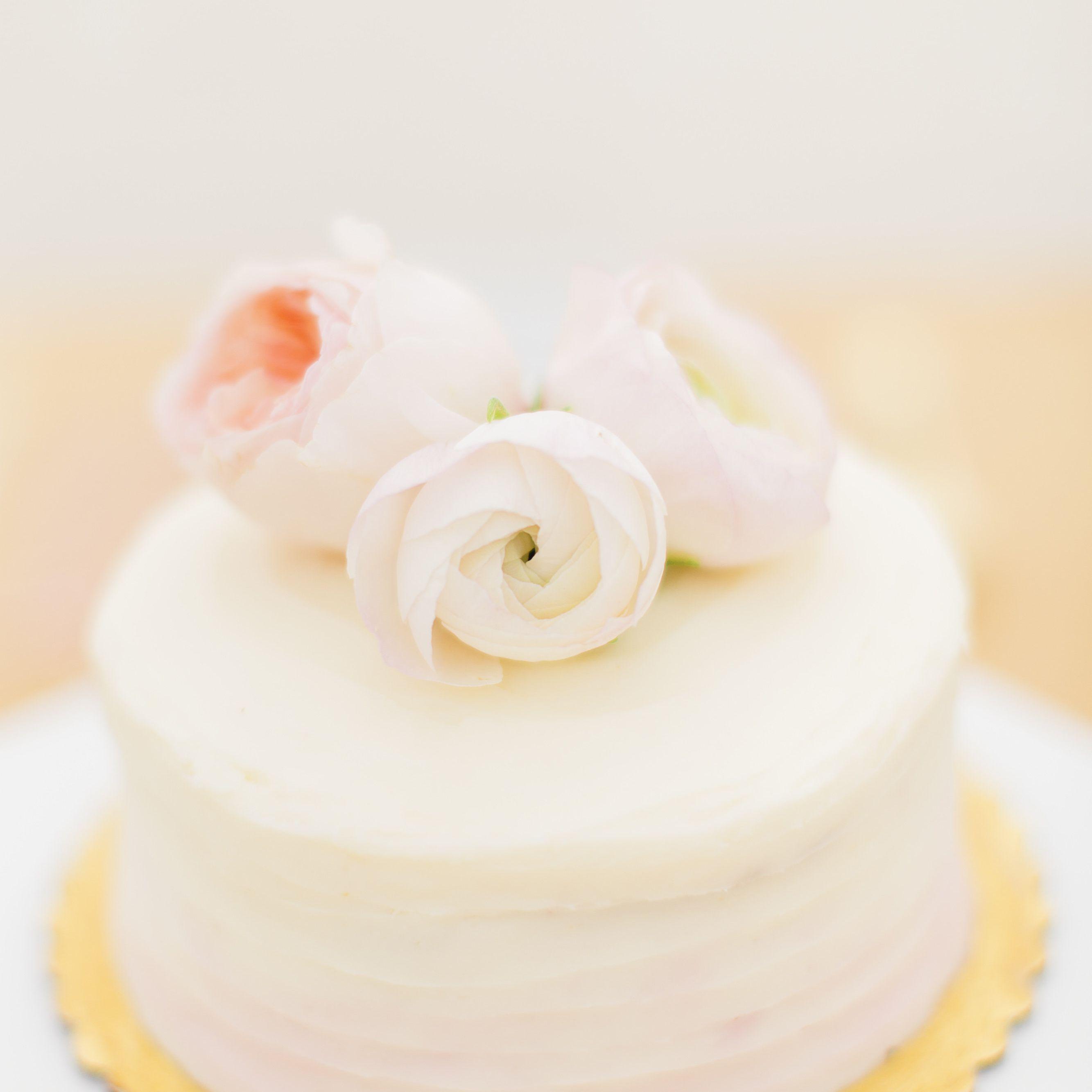Ombre Single-Tier Wedding Cake