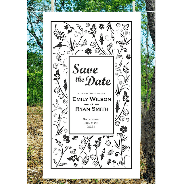 Pamba Towels Save the Date Tea Towels