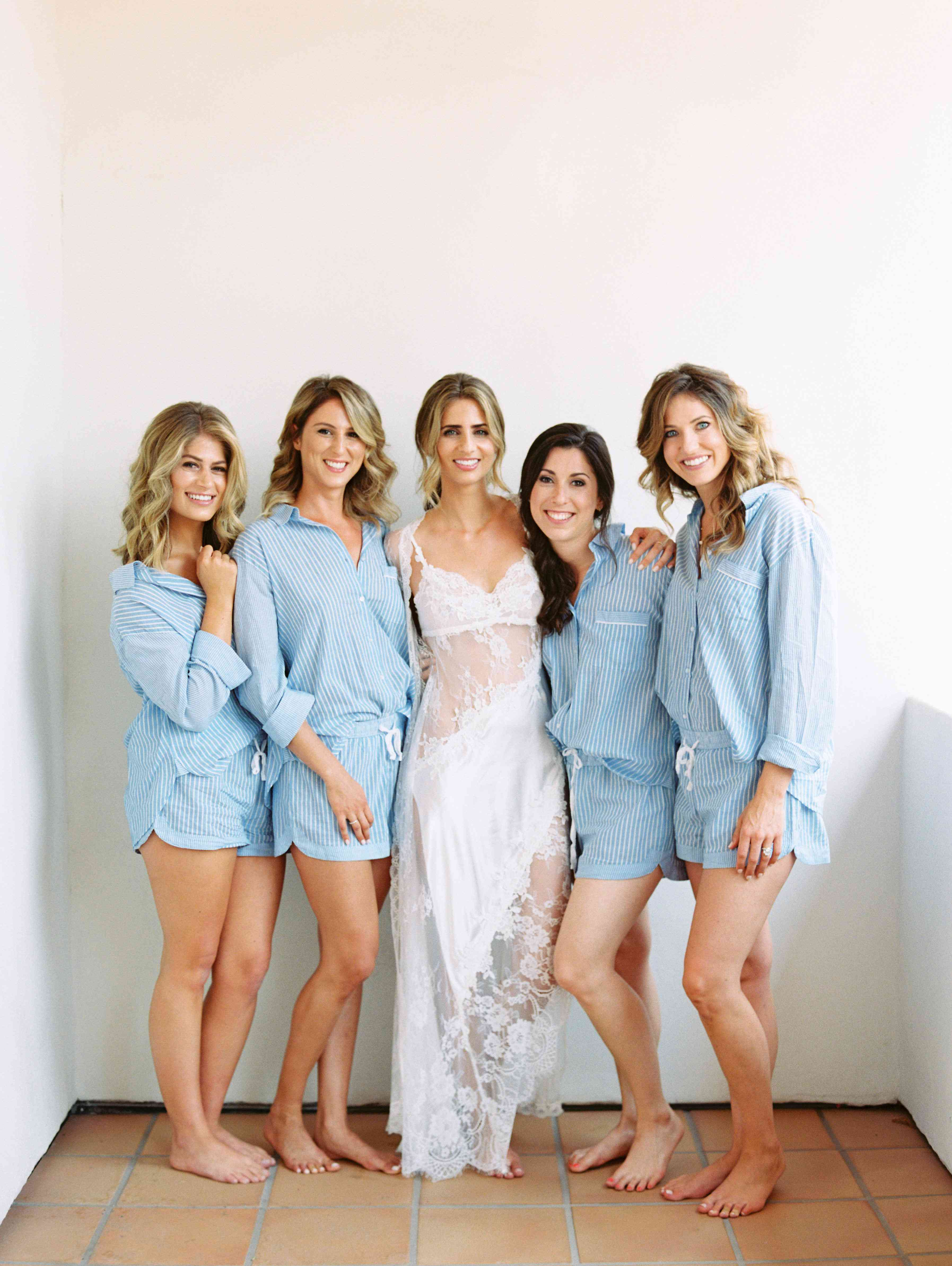 bridesmaids matching pajamas